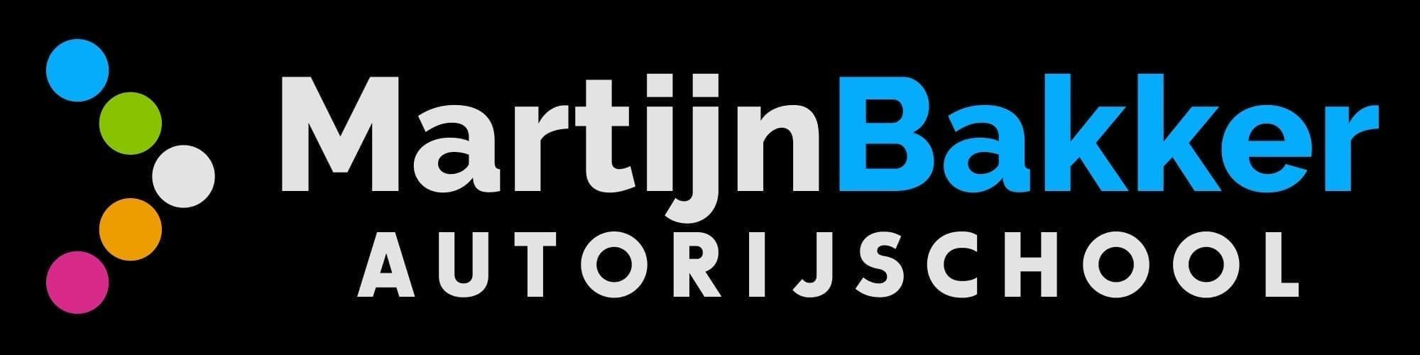 Autorijschool Martijn Bakker zwart logo